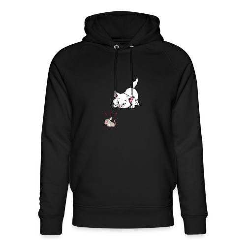 Katze und Maus Achtung Katze - Unisex Bio-Hoodie von Stanley & Stella