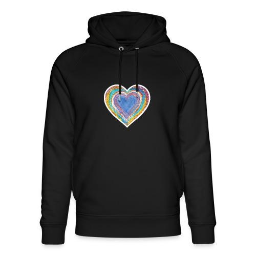 Heart Vibes - Unisex Organic Hoodie by Stanley & Stella