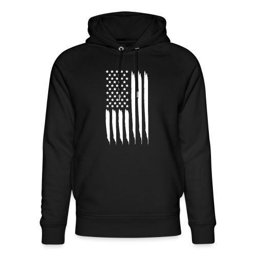 EEUU flag - Sudadera con capucha ecológica unisex de Stanley & Stella