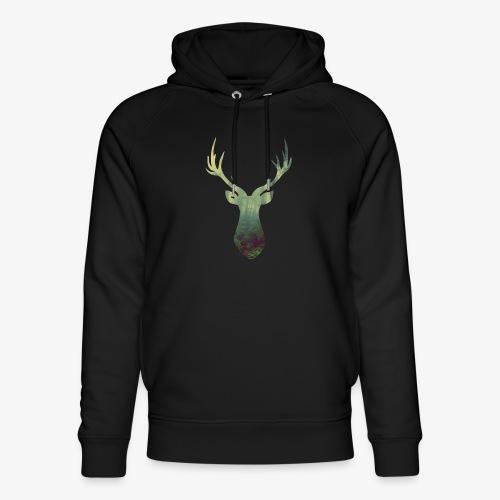 Deer Head - Unisex Organic Hoodie by Stanley & Stella