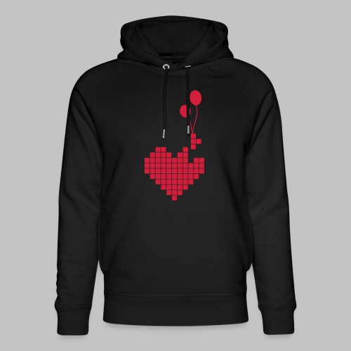 heart and balloons - Unisex Organic Hoodie by Stanley & Stella