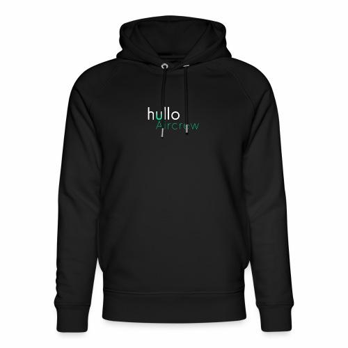 hullo Aircrew Dark - Unisex Organic Hoodie by Stanley & Stella