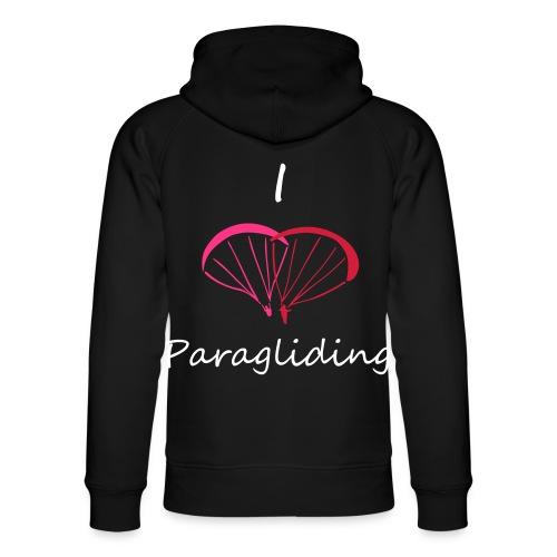 I Love Paragliding V2 - Unisex Organic Hoodie by Stanley & Stella