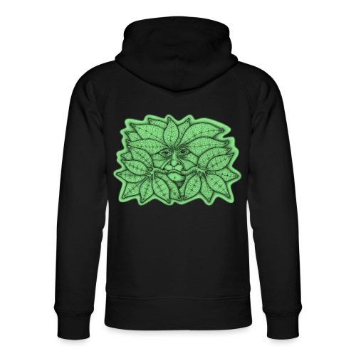 Green Man for Pagan Global Warming/Climate Change - Unisex Organic Hoodie by Stanley & Stella