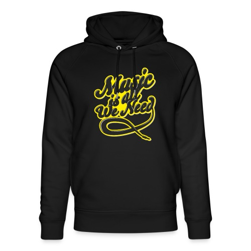 Music Is All We Need - Unisex Organic Hoodie by Stanley & Stella