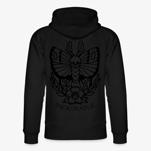 Traditional Tattoo Moth - Unisex Organic Hoodie by Stanley & Stella