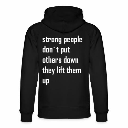 strong people - Uniseks bio-hoodie van Stanley & Stella