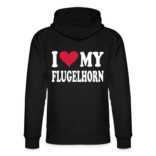 I LOVE MY FLUGELHORN - Unisex økologisk hettegenser fra Stanley & Stella
