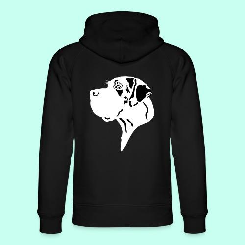 Doggenkopf gefleckt - Great Dane Head - Unisex Bio-Hoodie von Stanley & Stella