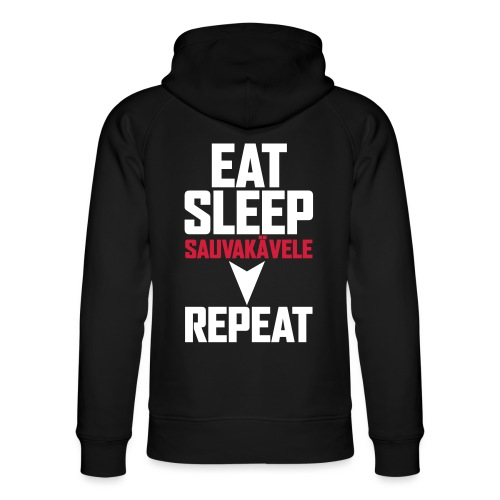 Eat, sleep, sauvakävele, repeat - Stanley & Stellan unisex-luomuhuppari