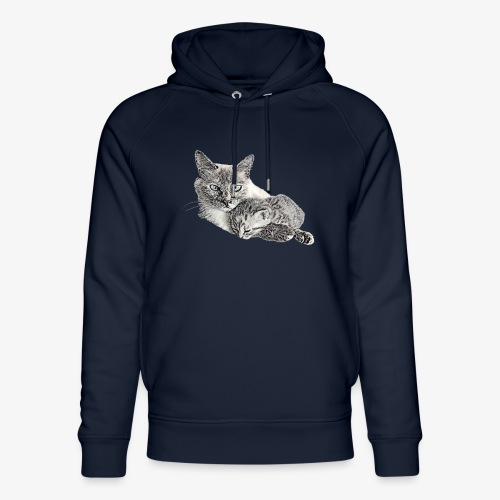 Snow and her baby - Unisex Organic Hoodie by Stanley & Stella