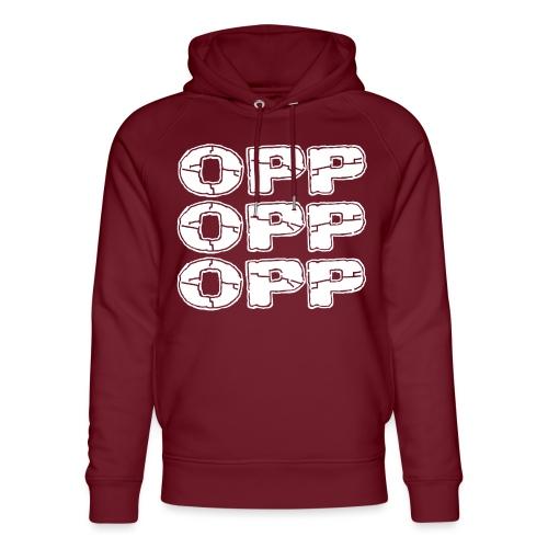 OPP Logo White - Stanley & Stellan unisex-luomuhuppari