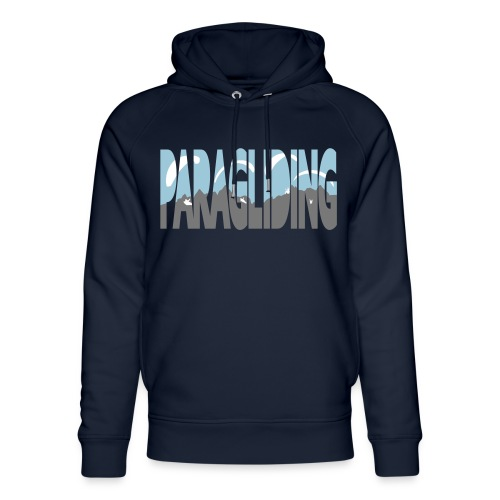 Paragliding Letters - Unisex Organic Hoodie by Stanley & Stella
