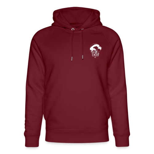 Sea of red logo - white small - Unisex Organic Hoodie by Stanley & Stella