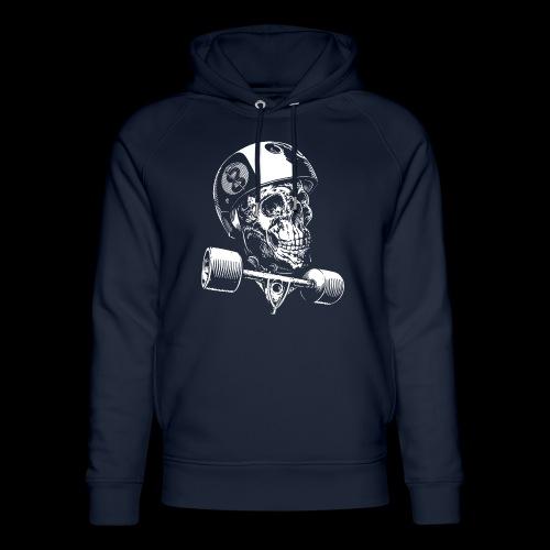 Skull Longboard Rider - negative print - Sweat à capuche bio Stanley & Stella unisexe