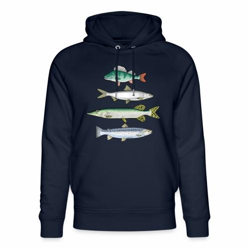 FOUR FISH - Ahven, siika, hauki ja taimen tuotteet - Stanley & Stellan unisex-luomuhuppari