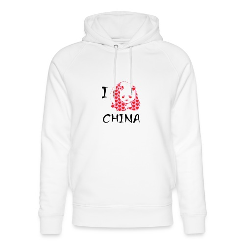 I Love China - Unisex Organic Hoodie by Stanley & Stella