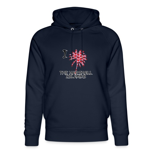 I Love The Marshall Islands - Unisex Organic Hoodie by Stanley & Stella
