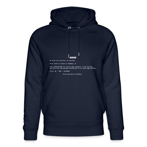Blue screen of death - Uniseks bio-hoodie van Stanley & Stella