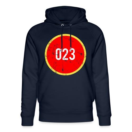 023 logo 2 washed regio Haarlem - Uniseks bio-hoodie van Stanley & Stella