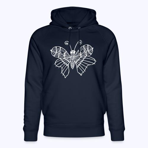 Schmetterling weiss - Unisex Bio-Hoodie von Stanley & Stella