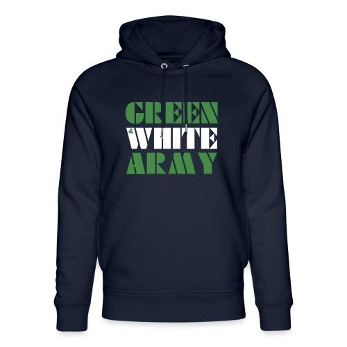 GREEN & WHITE ARMY - Unisex Organic Hoodie by Stanley & Stella