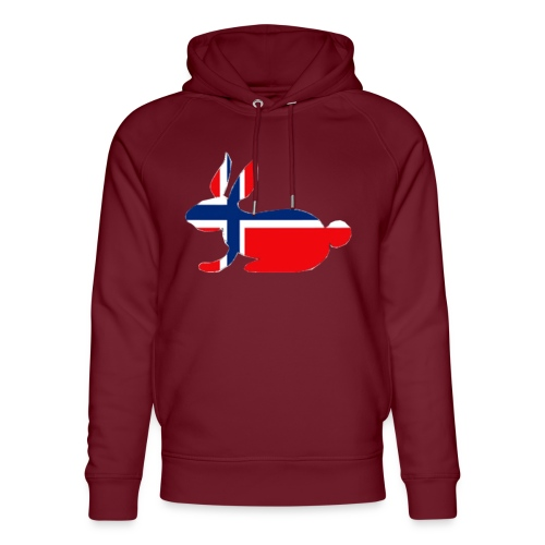 norwegian bunny - Unisex Organic Hoodie by Stanley & Stella