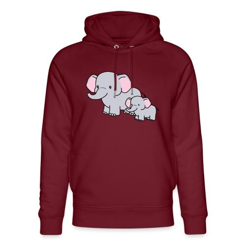 Elephants - Sudadera con capucha ecológica unisex de Stanley & Stella