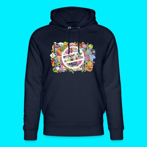 maglia logo doodle - Felpa con cappuccio ecologica unisex di Stanley & Stella