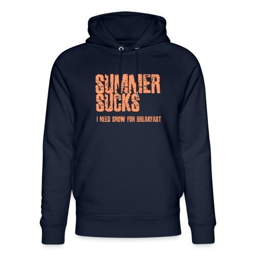 SUMMER SUCKS - Uniseks bio-hoodie van Stanley & Stella