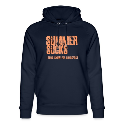 SUMMER SUCKS - Unisex Organic Hoodie by Stanley & Stella