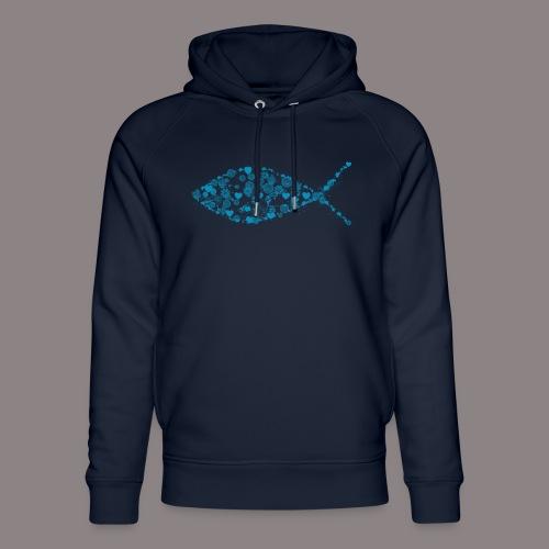ichthys petrol - Unisex Bio-Hoodie von Stanley & Stella