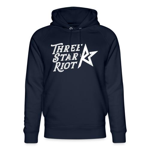 Three Star Riot logo vaalea - Stanley & Stellan unisex-luomuhuppari