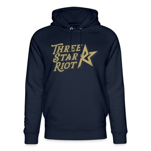 Three Star Riot logo väri - Stanley & Stellan unisex-luomuhuppari