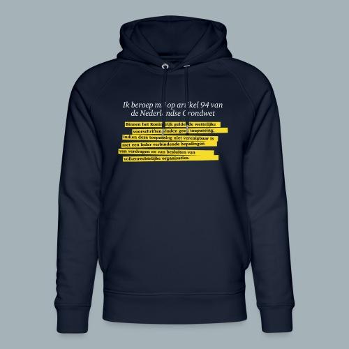 Nederlandse Grondwet T-Shirt - Artikel 94 - Uniseks bio-hoodie van Stanley & Stella