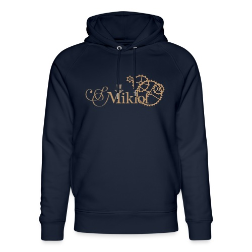 miklof logo gold outlined 3000px - Unisex Organic Hoodie by Stanley & Stella