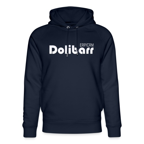 Dolibarr logo white - Unisex Organic Hoodie by Stanley & Stella