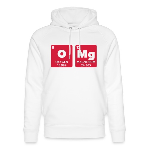 periodic table omg oxygen magnesium Oh mein Gott - Unisex Organic Hoodie by Stanley & Stella