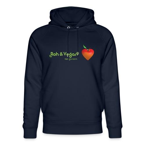Roh & Vegan rotes Apfelherz (Rohkost) - Unisex Bio-Hoodie von Stanley & Stella
