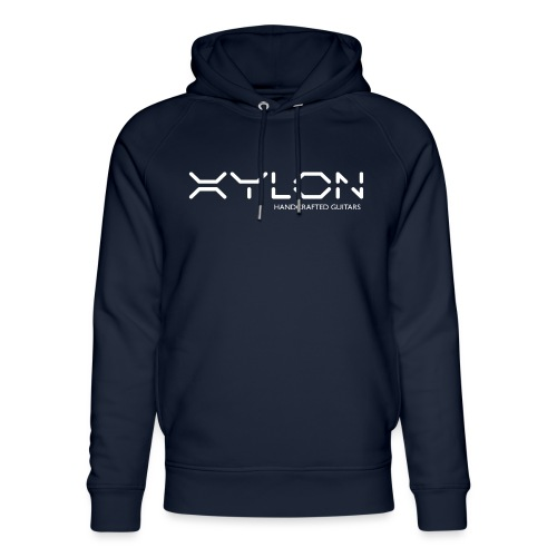 Xylon Handcrafted Guitars (name only logo white) - Unisex Organic Hoodie by Stanley & Stella