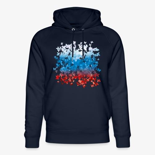 06 Russland Flagge Fahne Russia Schmetterlinge - Unisex Bio-Hoodie von Stanley & Stella