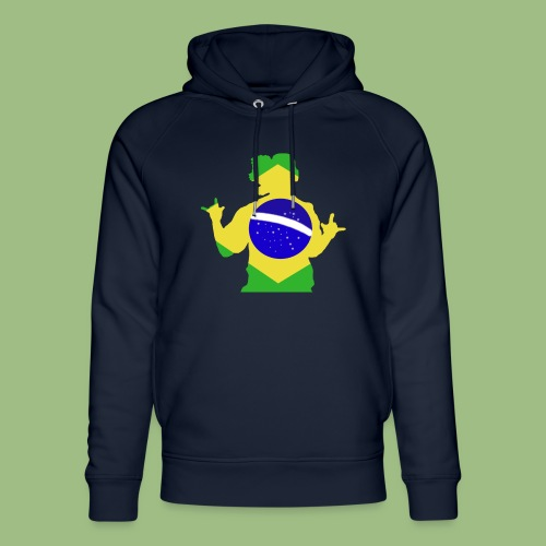 Ronaldinho Brazil - Ekologisk luvtröja unisex från Stanley & Stella