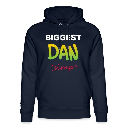 We all simp for Dan - Stanley & Stella unisex hoodie af økologisk bomuld