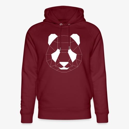 Panda Geometrisch weiss - Unisex Bio-Hoodie von Stanley & Stella