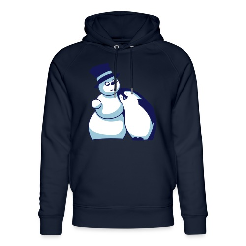 Schneemann und Pinguin - Unisex Bio-Hoodie von Stanley & Stella