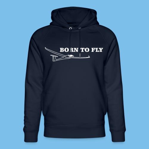 Geboren Segelflieger Geschenk Flieschen Thermik - Unisex Bio-Hoodie von Stanley & Stella