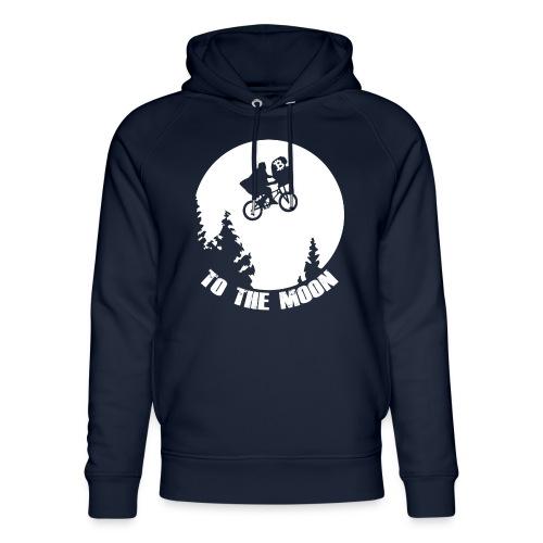 to the moon,bitcoin - Uniseks bio-hoodie van Stanley & Stella