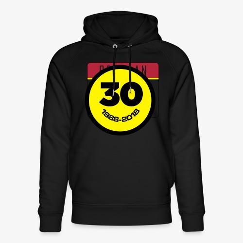 30 Jaar Belgian New Beat Smiley - Uniseks bio-hoodie van Stanley & Stella