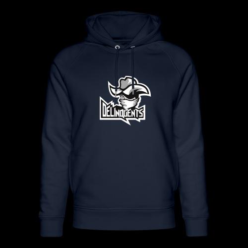 Delinquents Hvidt Design - Stanley & Stella unisex hoodie af økologisk bomuld
