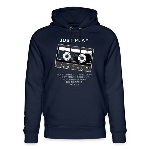Just play a cassette - Unisex Organic Hoodie by Stanley & Stella
